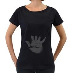 Tshirt Design 560 Womens' Maternity T-shirt (Black)