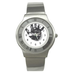 Tshirt Design 560 Stainless Steel Watch (Unisex)