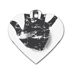 Tshirt Design 560 Dog Tag Heart (Two Sided)