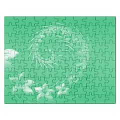 10   Light Green Flowers Jigsaw Puzzle (Rectangle)