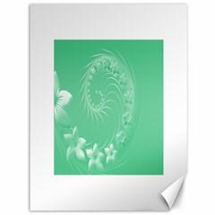 10   Light Green Flowers Canvas 36  X 48  (unframed)