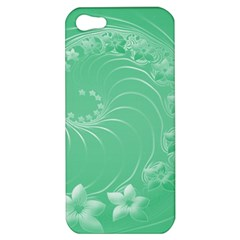 10   Light Green Flowers Apple iPhone 5 Hardshell Case