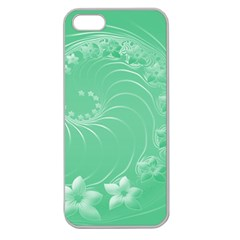10   Light Green Flowers Apple Seamless iPhone 5 Case (Clear)