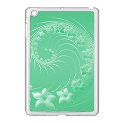 10   Light Green Flowers Apple iPad Mini Case (White)