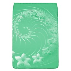 10   Light Green Flowers Removable Flap Cover (Large)
