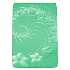 10   Light Green Flowers Removable Flap Cover (Small)