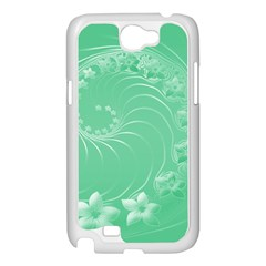 10   Light Green Flowers Samsung GALAXY Note2 (white)