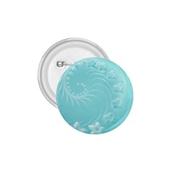 Cyan Abstract Flowers 1.75  Button