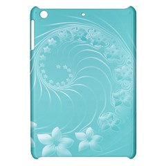 Cyan Abstract Flowers Apple Ipad Mini Hardshell Case