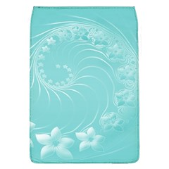 Cyan Abstract Flowers Removable Flap Cover (large)