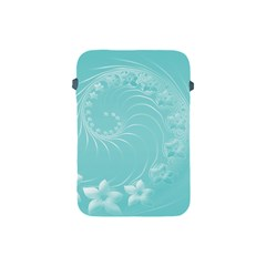 Cyan Abstract Flowers Apple iPad Mini Protective Soft Case