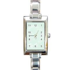 Pastel Green Abstract Flowers Rectangular Italian Charm Watch