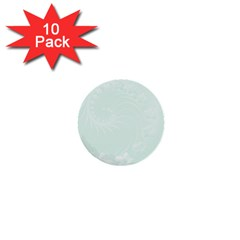 Pastel Green Abstract Flowers 1  Mini Button (10 pack)