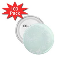 Pastel Green Abstract Flowers 1 75  Button (100 Pack)