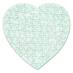 Pastel Green Abstract Flowers Jigsaw Puzzle (Heart)