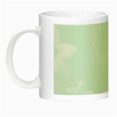Pastel Green Abstract Flowers Glow in the Dark Mug