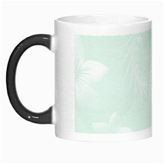 Pastel Green Abstract Flowers Morph Mug