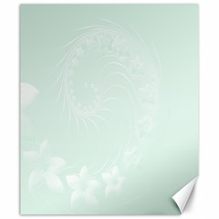 Pastel Green Abstract Flowers Canvas 20  X 24  (unframed)
