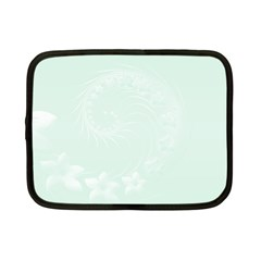 Pastel Green Abstract Flowers Netbook Case (Small)
