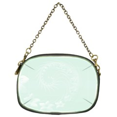 Pastel Green Abstract Flowers Chain Purse (One Side)