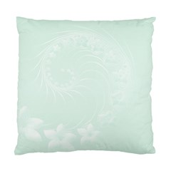 Pastel Green Abstract Flowers Cushion Case (Two Sides)