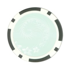 Pastel Green Abstract Flowers Poker Chip 10 Pack