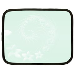 Pastel Green Abstract Flowers Netbook Case (xl)