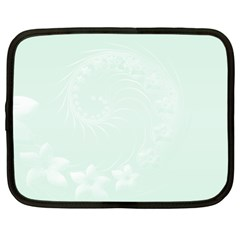 Pastel Green Abstract Flowers Netbook Case (xxl)