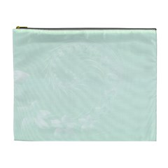 Pastel Green Abstract Flowers Cosmetic Bag (XL)