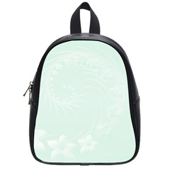 Pastel Green Abstract Flowers School Bag (Small)