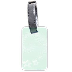 Pastel Green Abstract Flowers Luggage Tag (Two Sides)