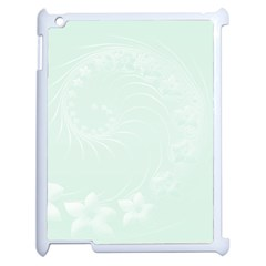Pastel Green Abstract Flowers Apple Ipad 2 Case (white)