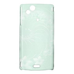 Pastel Green Abstract Flowers Sony Xperia Arc Hardshell Case