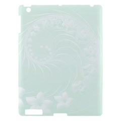 Pastel Green Abstract Flowers Apple Ipad 3/4 Hardshell Case