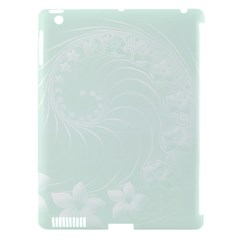 Pastel Green Abstract Flowers Apple iPad 3/4 Hardshell Case (Compatible with Smart Cover)