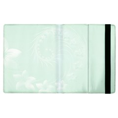 Pastel Green Abstract Flowers Apple iPad 3/4 Flip Case