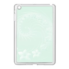 Pastel Green Abstract Flowers Apple Ipad Mini Case (white)