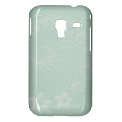 Pastel Green Abstract Flowers Samsung Galaxy Ace Plus S7500 Case