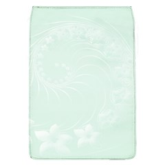 Pastel Green Abstract Flowers Removable Flap Cover (Large)