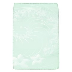 Pastel Green Abstract Flowers Removable Flap Cover (small)