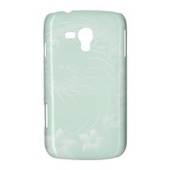 Pastel Green Abstract Flowers Samsung Galaxy Duos I8262 Hardshell Case