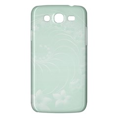 Pastel Green Abstract Flowers Samsung Galaxy Mega 5 8 I9152 Hardshell Case