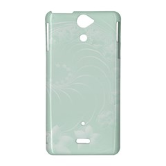 Pastel Green Abstract Flowers Sony Xperia V Hardshell Case