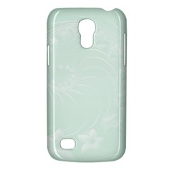 Pastel Green Abstract Flowers Samsung Galaxy S4 Mini Hardshell Case