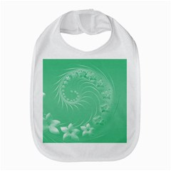 Light Green Abstract Flowers Bib