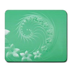 Light Green Abstract Flowers Large Mouse Pad (rectangle)