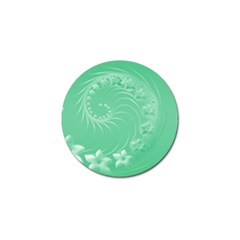 Light Green Abstract Flowers Golf Ball Marker