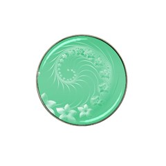 Light Green Abstract Flowers Golf Ball Marker (for Hat Clip)