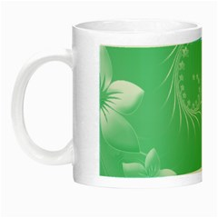 Light Green Abstract Flowers Glow in the Dark Mug