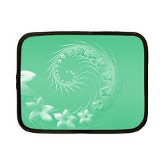 Light Green Abstract Flowers Netbook Case (Small)
